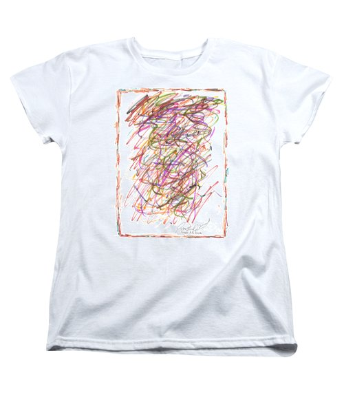 Women's T-Shirt (Standard Cut) featuring the painting Abstract Confetti Celebration by Joseph Baril