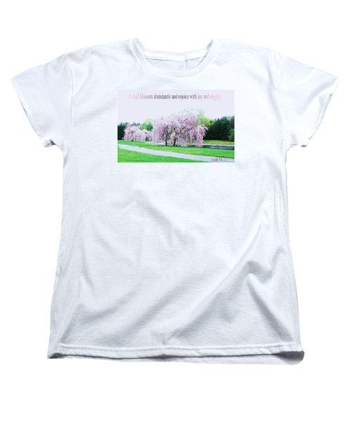 Women's T-Shirt (Standard Cut) featuring the photograph Abundant Blossom by Pamela Hyde Wilson