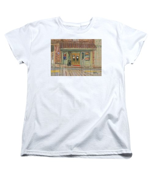 Women's T-Shirt (Standard Cut) featuring the painting Acworth Shop by Donald Maier