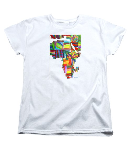 Women's T-Shirt (Standard Cut) featuring the painting African Brightness by Mudiama Kammoh