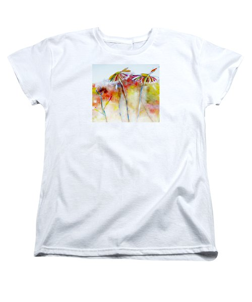 African Daisy Abstract Women's T-Shirt (Standard Cut) by Lisa Kaiser