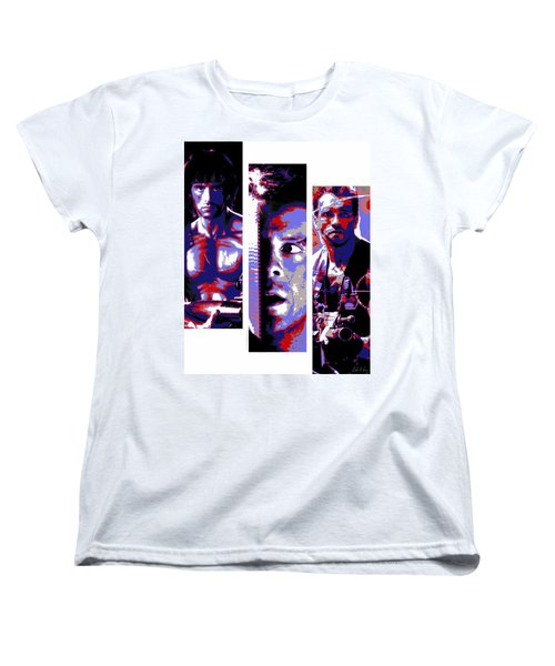 All-american 80's Action Movies Women's T-Shirt (Standard Cut) by Dale Loos Jr