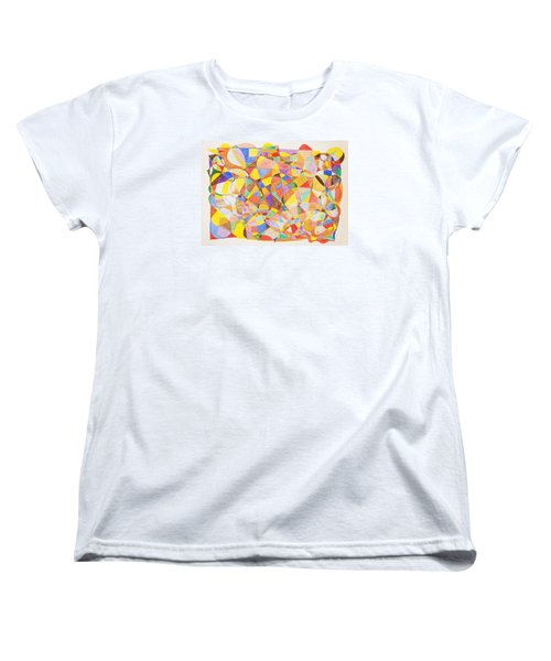 Women's T-Shirt (Standard Cut) featuring the painting Alternate Realities by Stormm Bradshaw