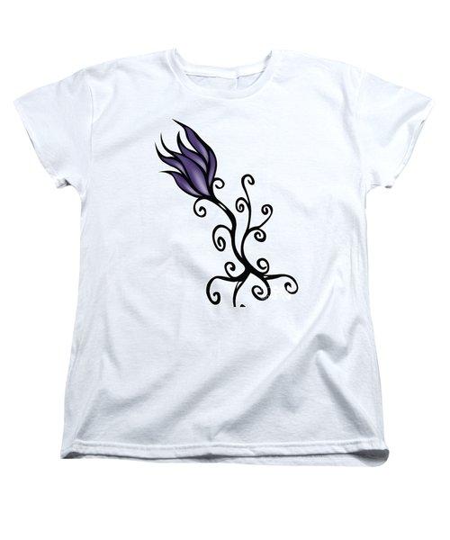 Women's T-Shirt (Standard Cut) featuring the digital art Amathist Rose by Jamie Lynn