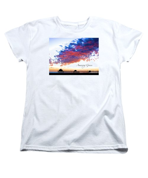 Women's T-Shirt (Standard Cut) featuring the photograph Amazing Grace Fire Sky by Margie Amberge