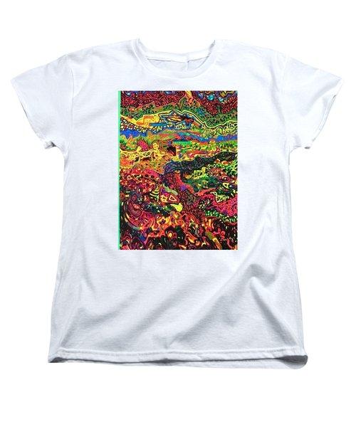 Women's T-Shirt (Standard Cut) featuring the drawing American Abstract by Jonathon Hansen