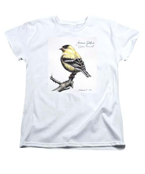 American Goldfinch Women's T-Shirt (Standard Cut) by Katharina Filus