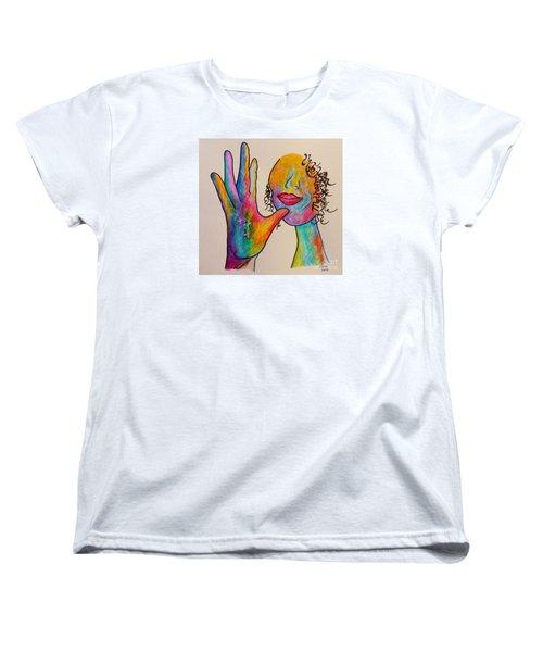 American Sign Language . . .  Mother Women's T-Shirt (Standard Cut) by Eloise Schneider