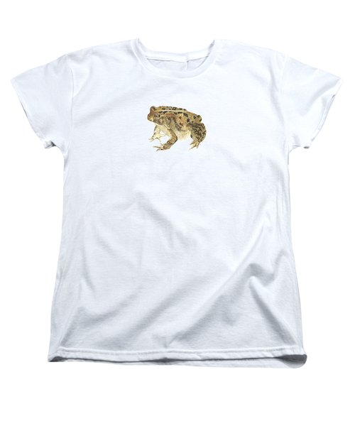 American Toad Women's T-Shirt (Standard Cut) by Cindy Hitchcock