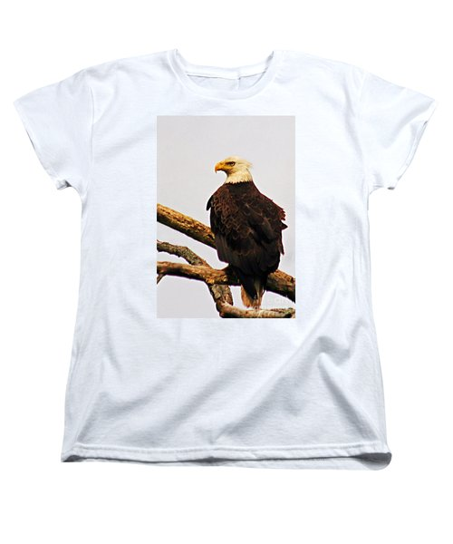 Women's T-Shirt (Standard Cut) featuring the photograph An Eagle's Perch by Polly Peacock