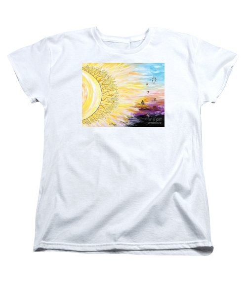 Anche Per Te Sorgera' Il Sole Women's T-Shirt (Standard Cut) by Loredana Messina
