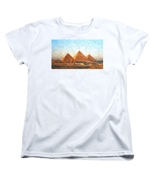 Ancient Egypt The Pyramids At Giza Women's T-Shirt (Standard Cut) by Gianfranco Weiss
