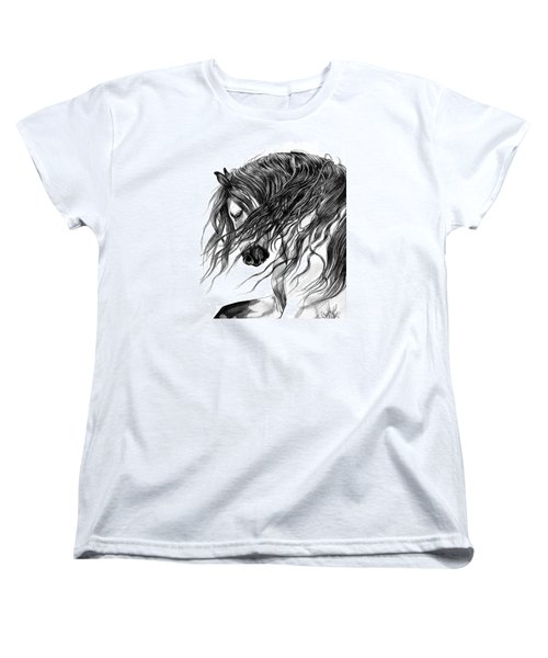 Andalusian Arabian Head Women's T-Shirt (Standard Cut) by Cheryl Poland