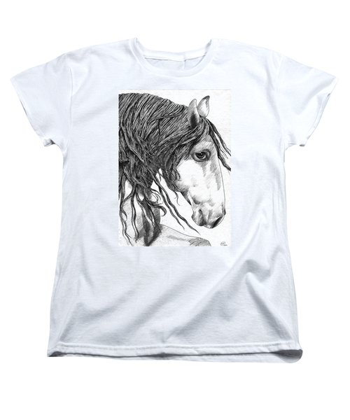 Andalusian Horse Women's T-Shirt (Standard Cut) by Kate Black