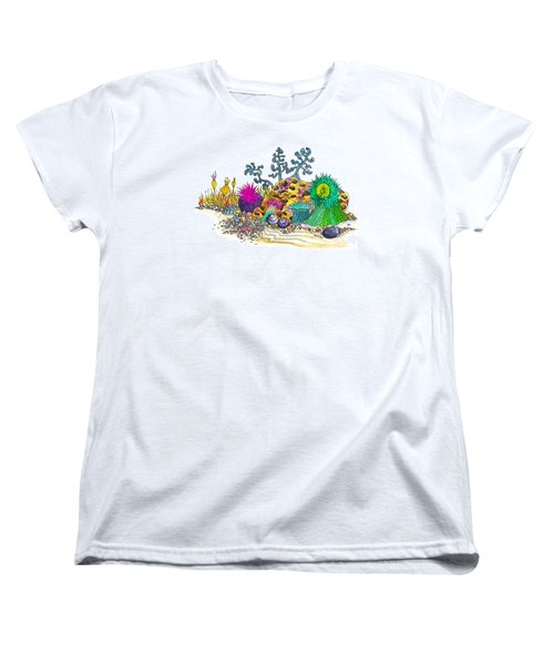 Women's T-Shirt (Standard Cut) featuring the photograph Anemone Garden by Adria Trail
