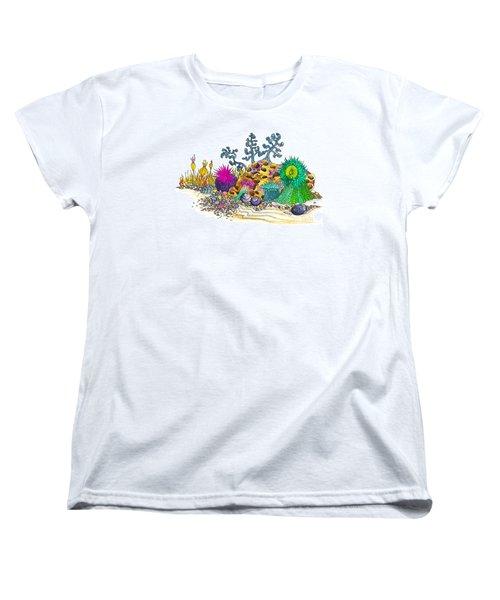 Anemone Garden Women's T-Shirt (Standard Cut) by Adria Trail