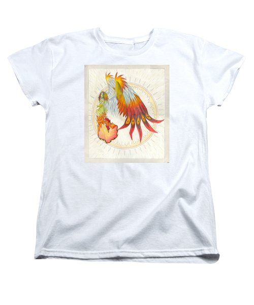 Women's T-Shirt (Standard Cut) featuring the painting Angel Phoenix by Shawn Dall