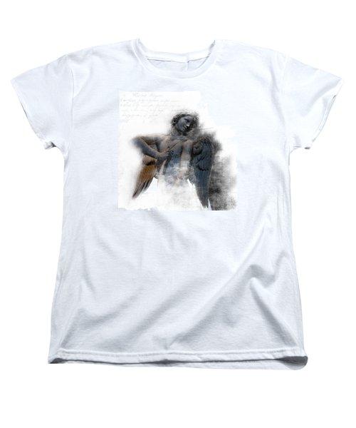 Angel Warrior Women's T-Shirt (Standard Cut) by Evie Carrier