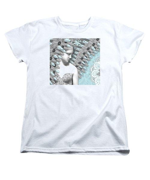 Angelica Hiberna - Angel Of Winter Women's T-Shirt (Standard Cut) by Christopher Beikmann