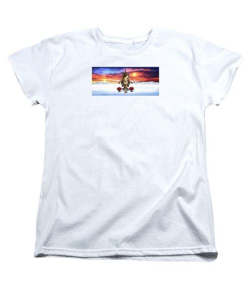 Antarctica Women's T-Shirt (Standard Cut) by Scott Ross