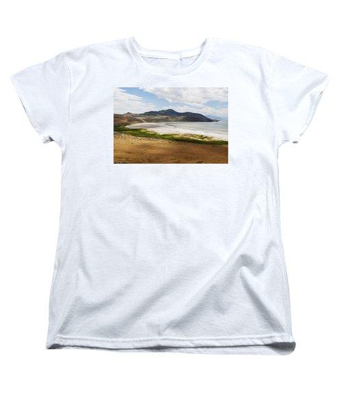 Women's T-Shirt (Standard Cut) featuring the photograph Antelope Island by Belinda Greb