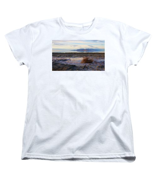 Women's T-Shirt (Standard Cut) featuring the photograph Antelope Island - Tumble Weed by Ely Arsha