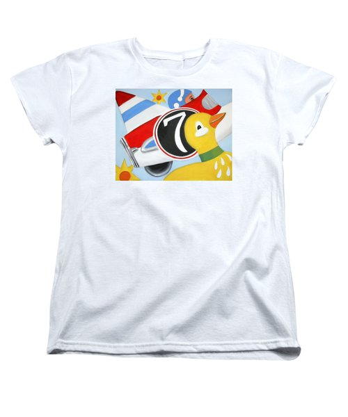 Women's T-Shirt (Standard Cut) featuring the painting Antique Toys by Stacy C Bottoms