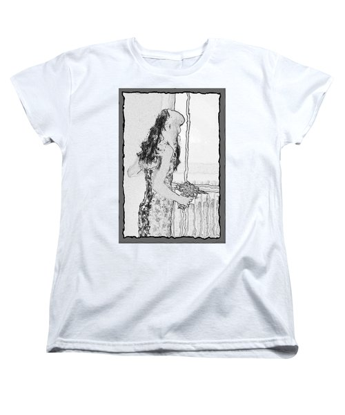 Anxiously Waiting Women's T-Shirt (Standard Cut) by Leticia Latocki