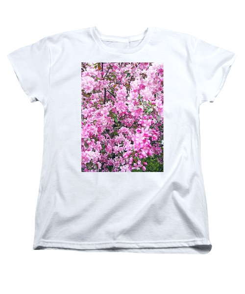 Apple Blossoms Women's T-Shirt (Standard Cut) by Aimee L Maher Photography and Art Visit ALMGallerydotcom