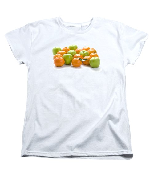 Women's T-Shirt (Standard Cut) featuring the photograph Apples And Oranges by Lee Avison