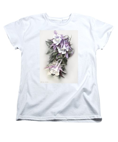 Aqualigia Cascade Women's T-Shirt (Standard Cut) by Bonnie Willis