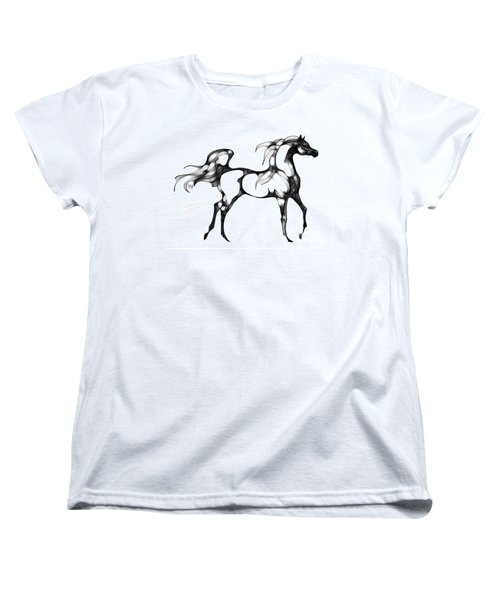 Arabian Horse Overlook Women's T-Shirt (Standard Cut) by Stacey Mayer