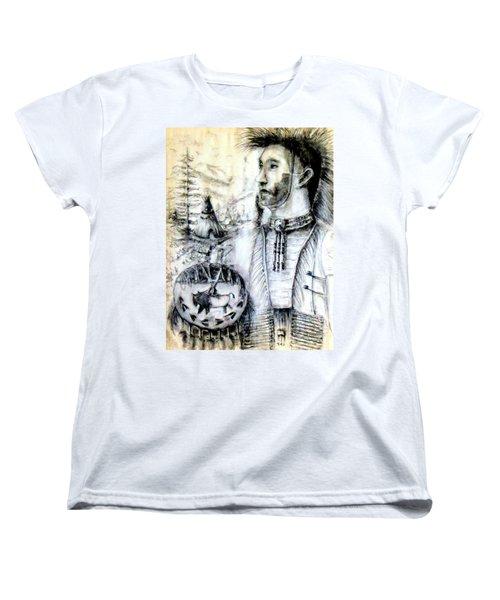 Women's T-Shirt (Standard Cut) featuring the painting Arapaho Cheyenne by Bernadette Krupa