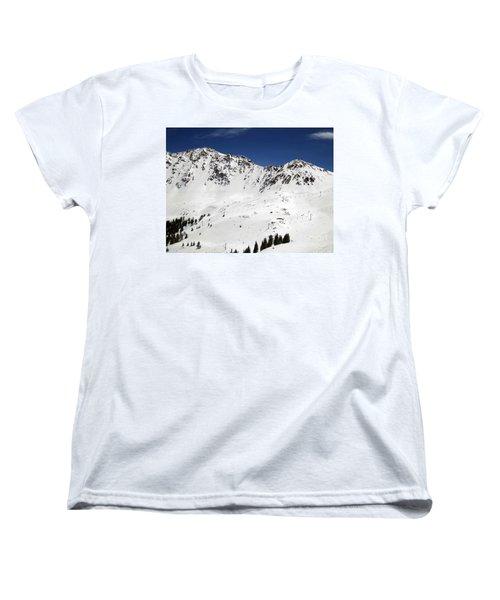 Arapahoe Basin Ski Resort - Colorado          Women's T-Shirt (Standard Cut) by Fiona Kennard