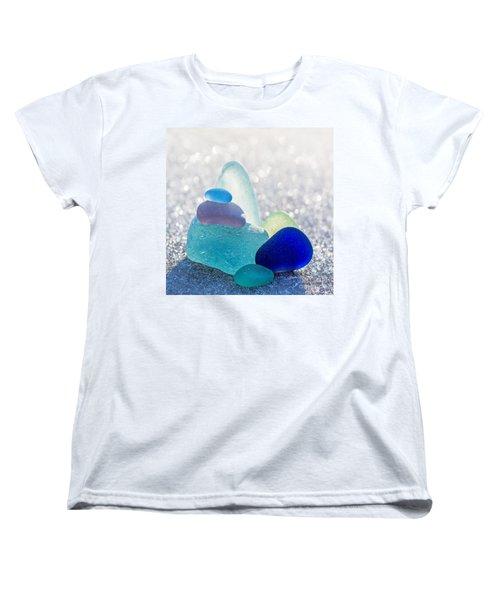 Arctic Peaks Women's T-Shirt (Standard Cut) by Barbara McMahon