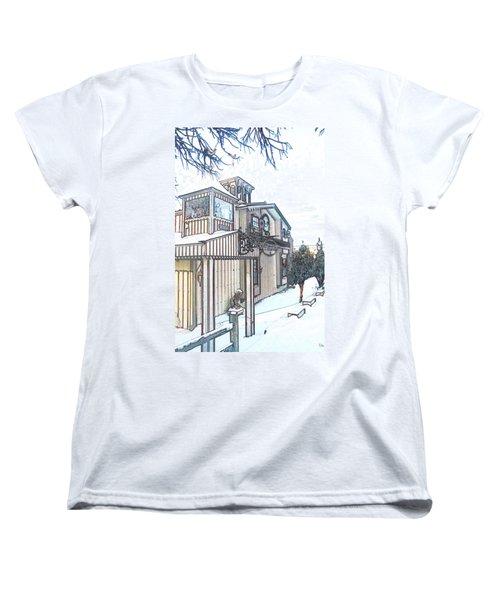 Arp Clockhouse Across From Mamasitas In Bennet Nebraska Women's T-Shirt (Standard Cut)