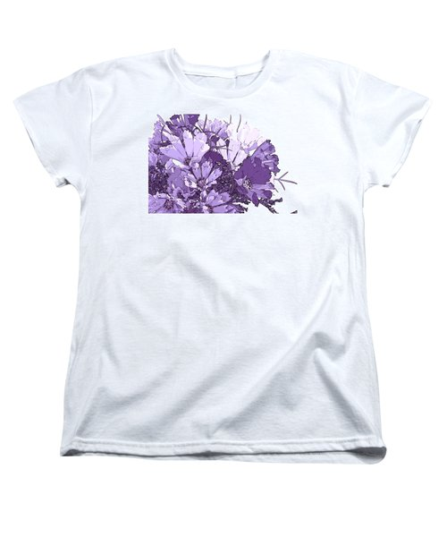 Women's T-Shirt (Standard Cut) featuring the photograph Artsy Purple Cosmos by Sandra Foster