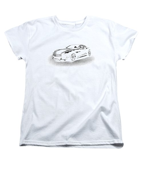Women's T-Shirt (Standard Cut) featuring the digital art Aston Martin by Rogerio Mariani
