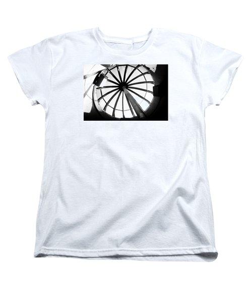 Oregon Women's T-Shirt (Standard Cut) featuring the photograph Astoria Column Dome by Aaron Berg
