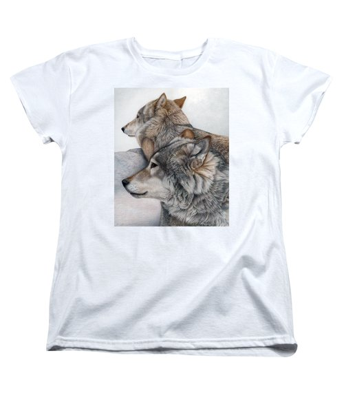 Women's T-Shirt (Standard Cut) featuring the painting At Rest But Ever Vigilant by Pat Erickson