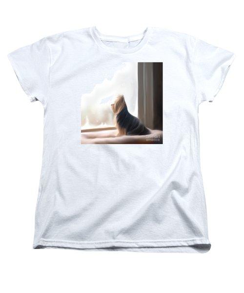 At The Window Women's T-Shirt (Standard Cut) by Catia Cho