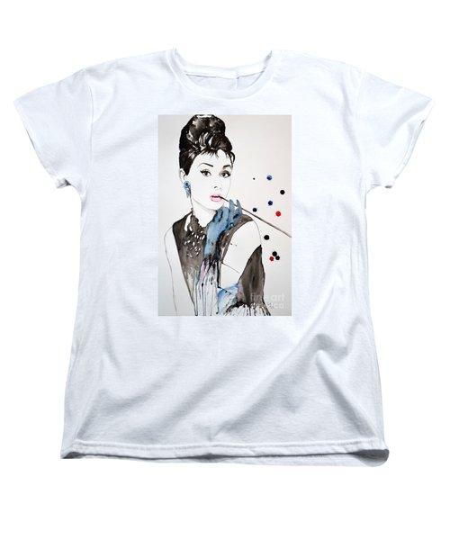 Audrey Hepburn Women's T-Shirt (Standard Cut) by Ismeta Gruenwald