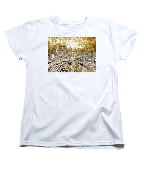 Austin Texas Abstract Panorama 6 Women's T-Shirt (Standard Cut) by Bekim Art