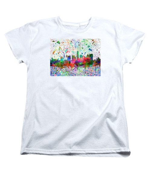 Austin Texas Abstract Panorama 7 Women's T-Shirt (Standard Cut) by Bekim Art