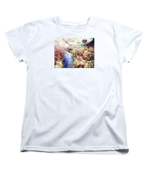 Women's T-Shirt (Standard Cut) featuring the photograph Autumn Creek by Vanessa Palomino