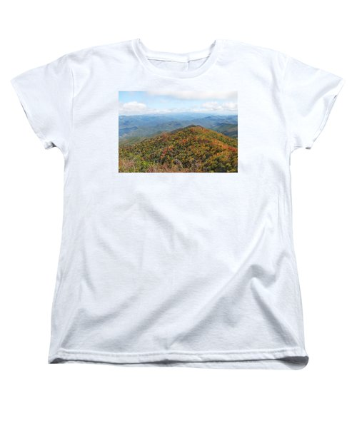 Autumn Great Smoky Mountains Women's T-Shirt (Standard Cut) by Melinda Fawver