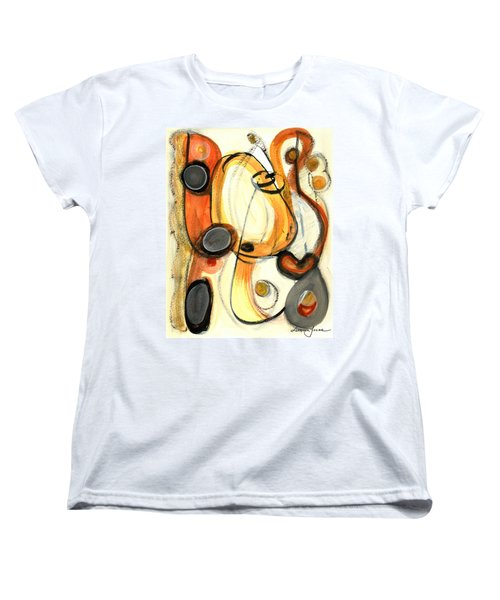 Women's T-Shirt (Standard Cut) featuring the painting Autumn Winds by Stephen Lucas