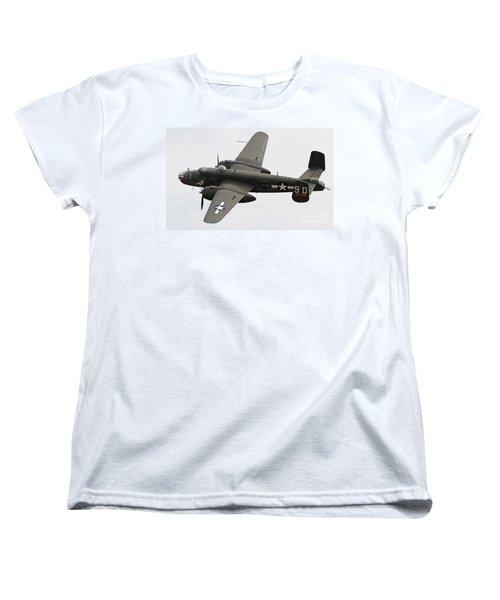 B-25 Mitchell Bomber Aircraft Women's T-Shirt (Standard Cut) by Kevin McCarthy