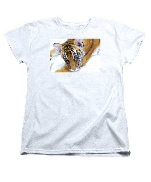 Baby Tiger Women's T-Shirt (Standard Cut) by Steve McKinzie