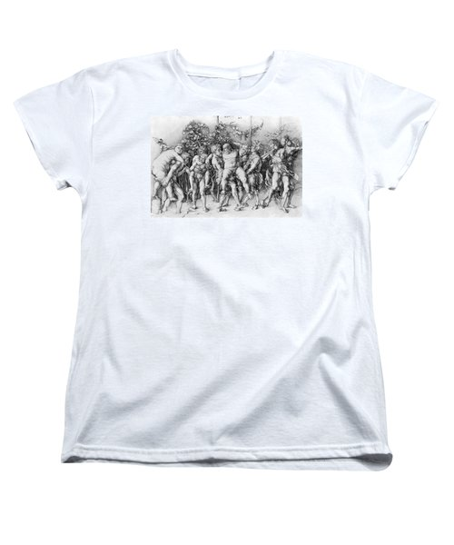 Bacchanal With Silenus - Albrecht Durer Women's T-Shirt (Standard Cut) by Daniel Hagerman